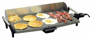 Broilking Professional Griddle, Stainless Steel Handles & Backsplash, PCG-10