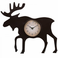 """Chaney, 12"""" Moose Silhouette Wall Clock, 75143A1"""