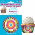 Cupcake Creations, No Muffin Pan Required Baking Cups, Color Burst, 90432