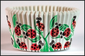 Cupcake Creations, No Muffin Pan Required Baking Cups, Ladybugs, 8955