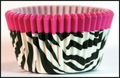 Cupcake Creations, No Muffin Pan Required Baking Cups, Pink Zebra, 8890