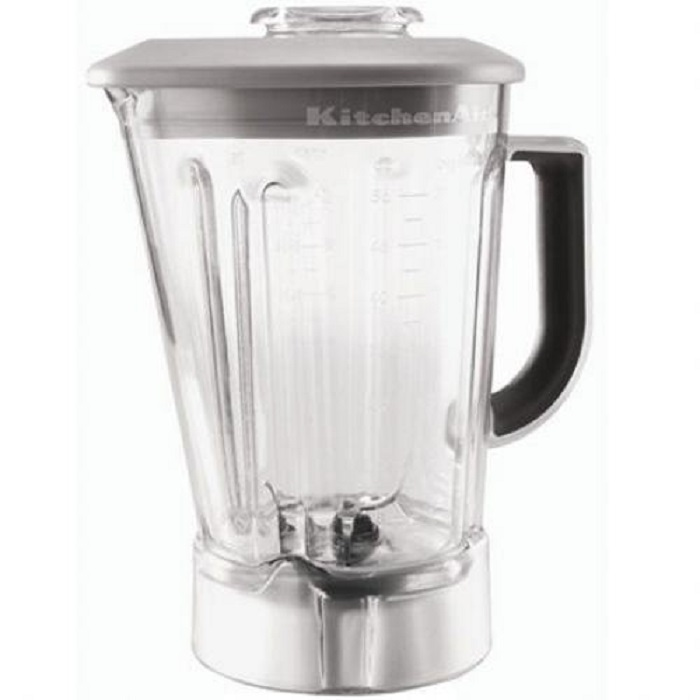 kitchenaid 56 ounce blender pitcher with silver mist lid w10555711