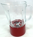 Kitchenaid blender glass jar assembly, red, AP4507809,PS2377613, W10279533