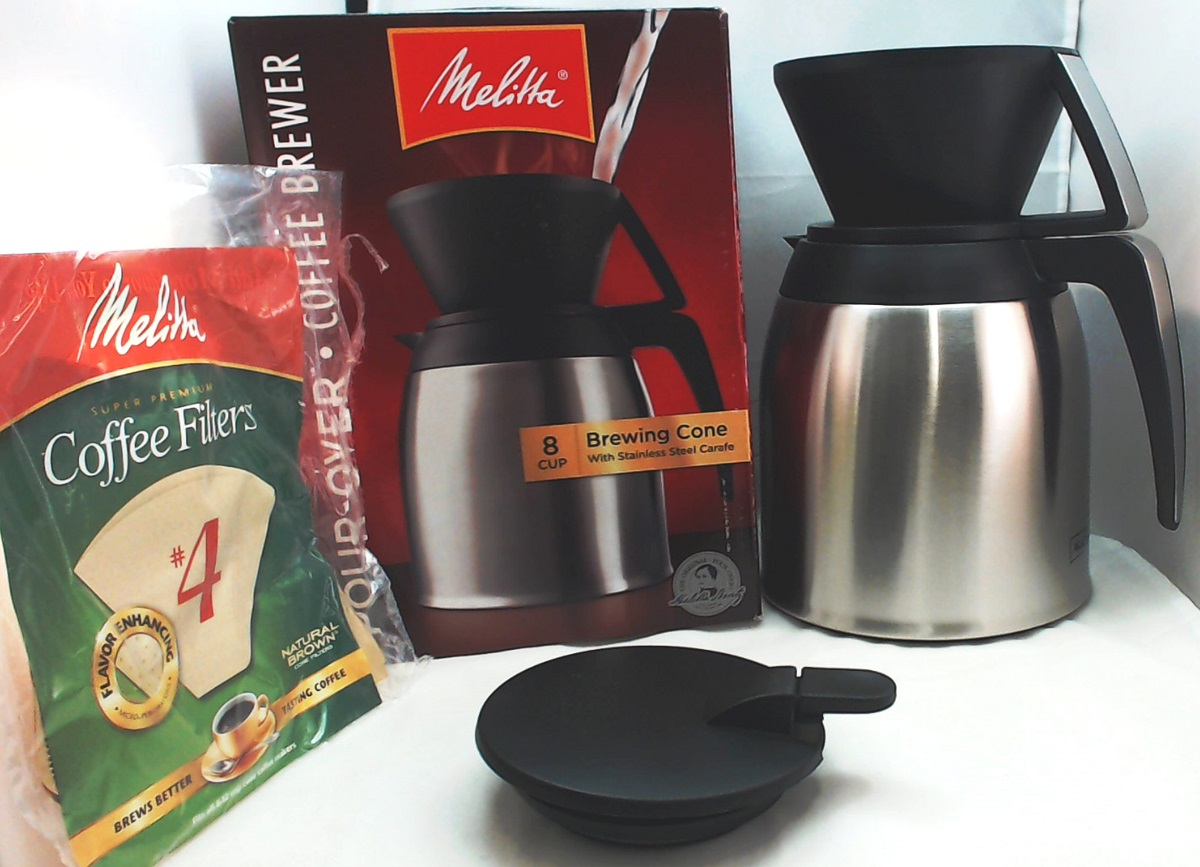 64104 Melitta Thermal Carafe Pour Over Coffee Brewer