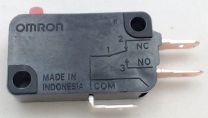 """Microwave Universal Door Switch, 3 Wire, 3/16"""" Male Terminals, 15 Amp, 28QBP0495"""