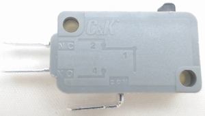 """Microwave Universal Door Switch, 3 Wire, 3/16"""" Male Terminals, 21 Amp, 28QBP0491"""