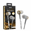 Sentry Gold Pro Metal Earbuds with In-Line Mic & Deluxe Case, White, H8000W