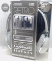 Sentry Retro Headphones & In-Ear Buds with In-Line Mic, Gray, 2 Pack, HC400GY