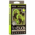 Sentry SportSeries Flexbuds, Flexible Green Ear Buds with In Line Mic, HM238GR