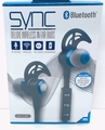 Sentry Sync Bluetooth, Rechargeable Wireless In-Ear Buds with In Line Mic, BT550