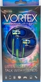 Sentry Vortex Stereo Ear Buds with In-Line Mic, Blue & Green, HM472