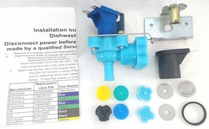 Universal Dishwasher Water Valve for Frigidaire, General Electric, and Most Other Brands, DW-1