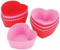 Wilton Silicone Heart Baking Cups, 12 Count, 415-9409