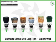 Custom Glass 510 DripTips - ColorSwirl