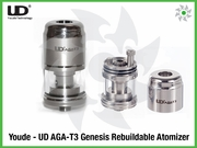 Youde UD AGA-T3 Genesis Rebuildable Atomizer Stainless RBA