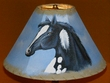 "14"" Painted Leather Lamp Shade - Black Beauty"