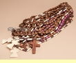 15 pc. Tarahumara Indian Rosary Necklace -Bulk Pack