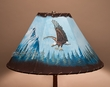 "16"" Painted Leather Lamp Shade -Eagle"