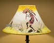 "16"" Painted Leather Lamp Shade -Kokopelli"