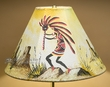 "15"" Painted Leather Lamp Shade -Kokopelli"