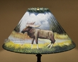"18"" Painted Leather Lamp Shade -Moose"