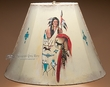 "20"" Painted Leather Bell Lamp Shade -Warrior  (PL50)"