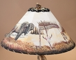 "20"" Painted Leather Lamp Shade -Buffalo  (PL39)"