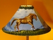 "20"" Painted Leather Lamp Shade -Chesnut Pony"