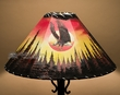 "20"" Painted Leather Lamp Shade -Sunset Eagle"
