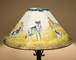 "20"" Painted Leather Lamp Shade -Wolf Pack  (PL40)"