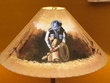 "24"" Painted Leather Lamp Shade -Cowboy  (PL52)"
