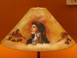 "24"" Painted Leather Lamp Shade -Indian Chief  (PL51)"
