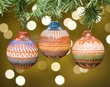 3 Piece Navajo Indian Christmas Ornaments Set  (o13)