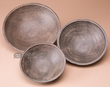 3 Piece Rustic Wooden Bowl Set  (b71)