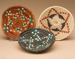 "3pc. Southwest Hand Woven Basket Set 4""  (b250)"