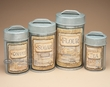 4 pc. Rustic Tin Country Canister Set -Old Style  (c23)
