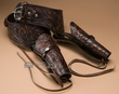 """44-45 Cal. Western Tooled Leather Double Holster 42""""  (gb15)"""