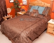 5 Pc. Western Bedding Faux Leather Comforter Set -Del Rio QUEEN