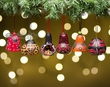 6 Gourd Southwest Christmas Ornaments -Andean  (5)
