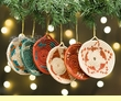 6 pc. Hand Woven Mini Basket Christmas Ornament Set  (o50)