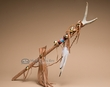 "American Indian Antler Dance Stick 31"" -Tigua"