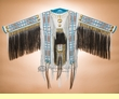 """Indian Double Beaded Leather War Shirt 65""""x34""""  (ws7)"""
