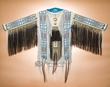 "Indian Double Beaded Leather War Shirt 65""x34""  (ws7)"