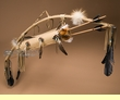Native American Bow & Arrow Fox Quiver -Buckskin  (ba8)