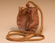 American Indian Deer Skin Medicine Pouch  -Red Rock  (b32)