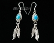 American Indian Navajo Silver & Turquoise Earrings (32)
