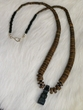 "American Indian Jewelry -22"" Coconut Fetish Necklace (15)"