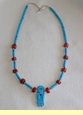 Turquoise American Indian Necklace -Tigua