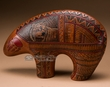 "American Indian Navajo Pottery Bear 11""x7.5""  (p258)"