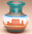 "American Indian Navajo Pottery Vase 3.25""  -Hand Etched  (p230)"